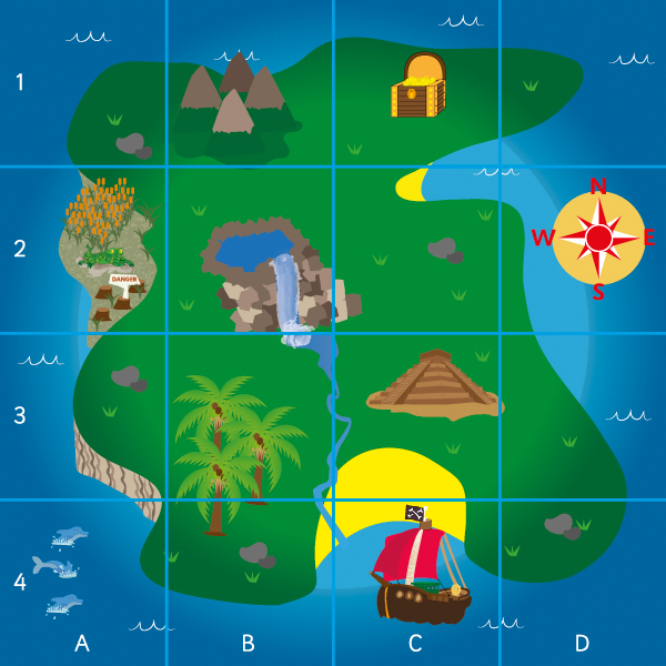 Beebots Pirate Map