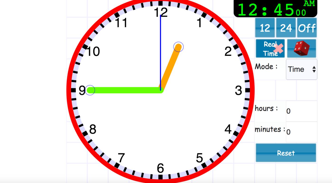 Worksheet Interactive Clock interactive clock