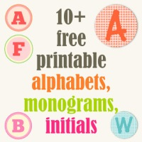 Lots of free printable letters and resources for displays