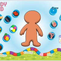 Decorate a Gingerbread Man online