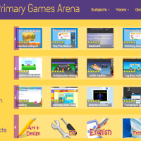 Primary Games Arena interactive