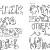 Free Inspirational Quotes to Colour in